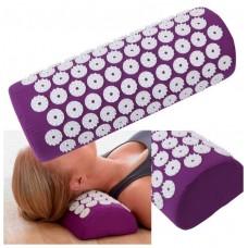 Masažinė akupresūros pagalvė, tamsiai rožinė