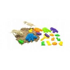 """Kinetinis smėlis ir formelės """"dinozaurai"""" B29E"""
