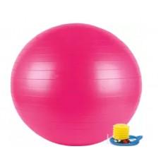 Rožinis gimnastikos kamuolys su pompa 65 cm. L20075
