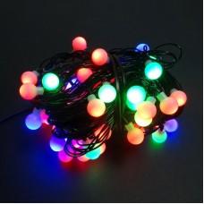 100 LED Kalėdinė girlianda burbuliukai, ilgis 11m., įvairiaspalvė