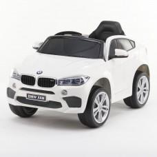 Originalus baltas elektromobilis BMW X6M 2199 su nuotolinio valdymo pultu