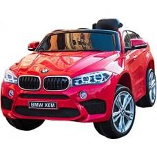 Originalus raudonas elektromobilis BMW X6M 2199 su nuotolinio valdymo pultu