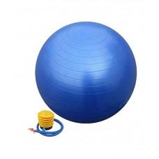 Mėlynas gimnastikos kamuolys su pompa 65 cm. L20075