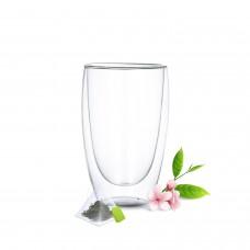 Stiklinių su dvigubomis sienelėmis rinkinys (2vnt.) 450ml.