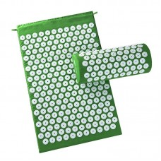 Akupresūros kilimėlis su pagalvėle SIX7FIT žalias