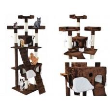 Draskyklė katėms, 170 cm, ruda