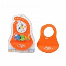 Silikoninis vaikiškas seilinukas su žaisliukais