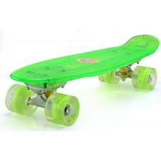 Skaidri Fishboard riedlentė, žalia