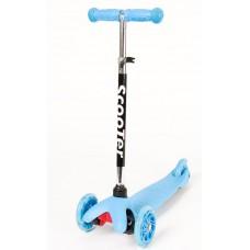 Trijų ratų balansinis paspirtukas, mėlynas