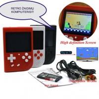 Raudona žaidimų konsolė 400 žaidimų
