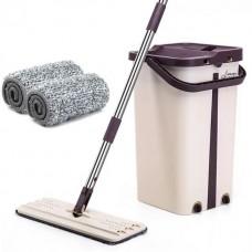 Šluota su gręžimo funkcija mop smėlinė/violetinė spalva