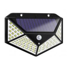 100 LED saulės lempa su judėjimo jutikliu