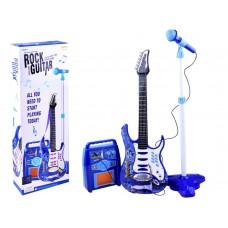 Elektrinė gitara su mikrofonu, mėlyna